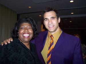 Nina Davis and Adrian Paul