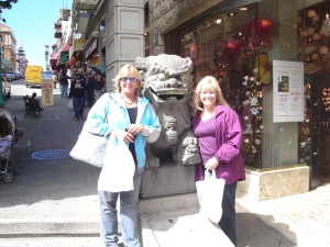 Judi and Jenny do Chinatown