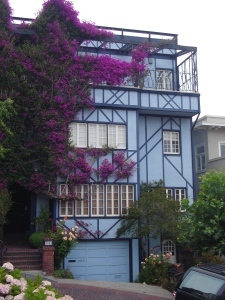 Colorful house on Lombard