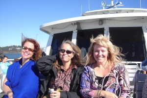 Dana, Lisa and Judi on the ferry to Sausalito