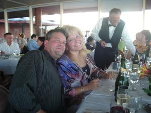 Dave, Judi, waiter Gary, Brenda
