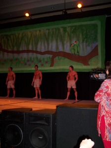 More EC Cavemen dancing (sorry, still shots, ladies)