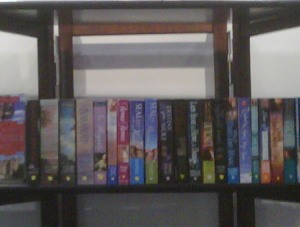 bookshelf of SB authors