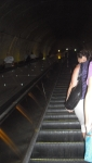 I love the angle of the Woodley Ave/National Zoo metro station escalator